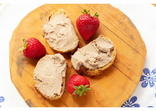 Prepped Smoked Liverwurst with strawberries Josef's Artisan Meats
