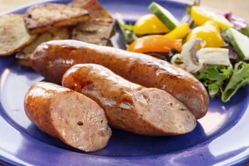 Prepped Kase Krainer Sausage Dish Josef's Artisan Meats